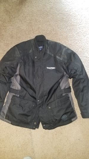 Triumph motorcycle riding jacket, size 2x for Sale in Burlington, NJ