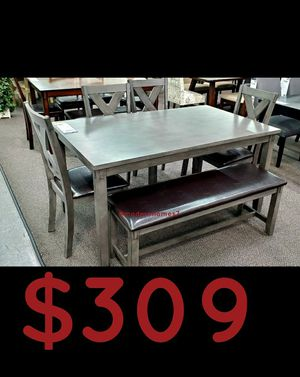 """solid wood dining table set new in factory packaging we can deliver for extra 60x36x30"""" for Sale in Silverado, CA"""