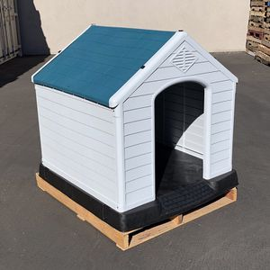 "New in box $140 Plastic Dog House X-Large Size Pet Indoor Outdoor All Weather Shelter Cage Kennel 42x40x45"" for Sale in Pico Rivera, CA"