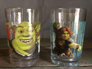 Set of 2 Collectable Shrek Glasses for Sale in Cincinnati, OH