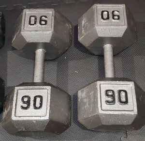 1 pair of dumbbells, 180 pounds, pick up only. for Sale in Alhambra, CA