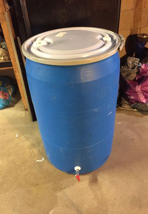 Blue 55 Gallon drum with drain cock for Sale in Locust Valley, NY