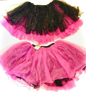 2 Tutus! Hot Pink & Black Reversible, Adult one size fits most. for Sale in Garland, TX