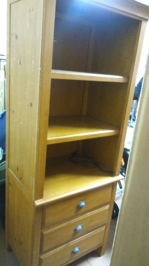 Solid Wood Shelving Unit with Drawers for Sale in Port St. Lucie, FL