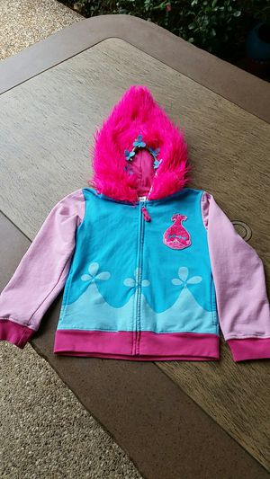 $4, girls 7-8 Dream Works Trolls Poppy zip hoodie for Sale in Plano, TX