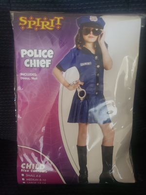 Police chief girl's costume size 8/10 medium for Sale in Sanger, CA