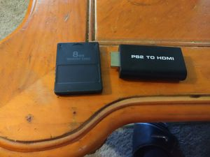 Modded ps2 memory card And ps2 to hdmi for Sale in MIDDLEBRG HTS, OH
