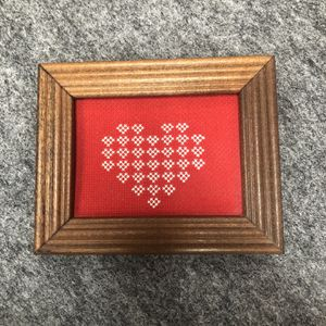 Valentine Heart Cross Stitch Framed Picture for Sale in East Berlin, PA