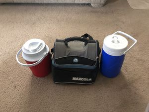 Lunch cooler and jugs for Sale in Portland, OR