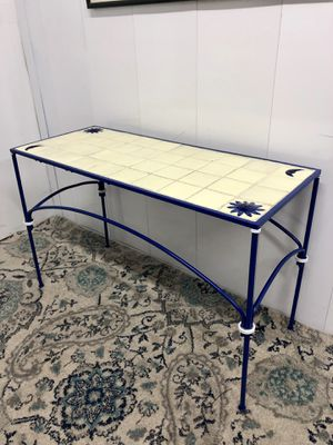 "Tile inlaid Wrought Iron Console Sofa Table 43""x18""xH27"" (Delivery Service Available) for Sale in Boynton Beach, FL"