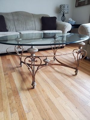 High End Glass & Gold Coffee Table for Sale in Philadelphia, PA