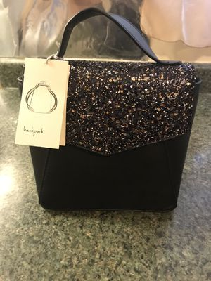Black glitter backpack/ crossbody for Sale in Chicago, IL