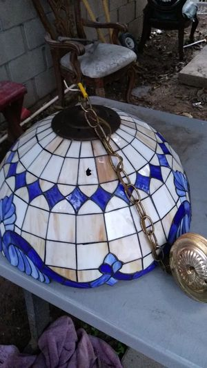 Glass lamp few damaged but can be easily fixed its an antique for Sale in Fresno, CA