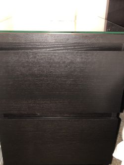 2 Drawer Dresser Nightstand (black-brown) for Sale in Kirkland,  WA