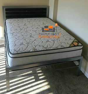 Brand New Full Size Platform Bed + Pillowtop Mattress for Sale in Silver Spring, MD