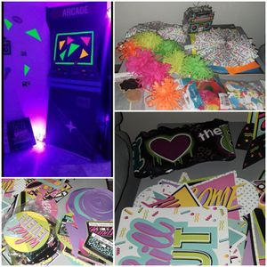 6 feet cardboard Arcade/ 80's decorations /80's accessories for Sale in Downey, CA