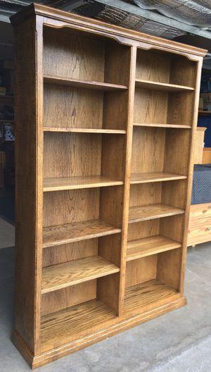 10 Shelf Oak Bookcase / Bookshelf / Storage Display Shelves for Sale in Lakeville, MN