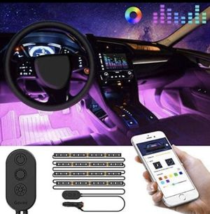 Govee Unifilar Car LED Strip Light, MINGER APP Controller Car Interior Lights, Waterproof Multicolor Music Under Dash Lighting Kits for iPhone Androi for Sale in Miami, FL