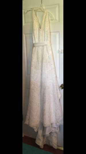 David's Bridal Collection Ivory wedding dress with lace, pearls and sequins for Sale in Sorrento, FL