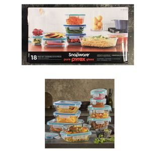Snapware Pyrex 18-piece Glass Food Storage Set for Sale in Stafford, TX