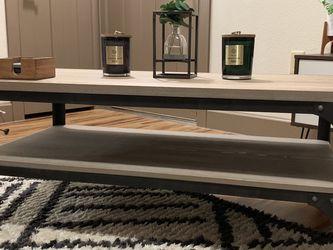 Industrial Wood Coffee Table - Threshold for Sale in Cedar Park,  TX