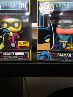Funko Pop DC Black light Harley & Batman PRICE DROP for Sale in San Jose,  CA