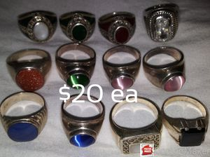 Sterling Silver Rings. Assorted Styles and Sizes ALL 9.25 Silver for Sale in Escondido, CA
