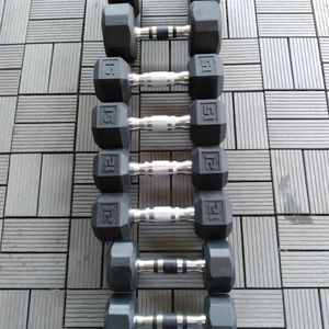Body Solid Hex dumbbell set / pesas / mancuernas / gym / weights / gymnasio for Sale in Dallas, TX