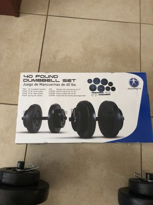 40lb dumbbell set! for Sale in Yucaipa, CA