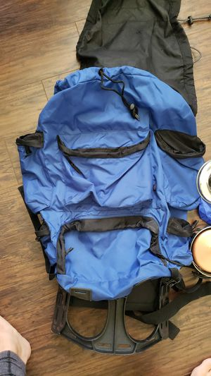 Large Hiking backpack with camping pots for Sale in Houston, TX
