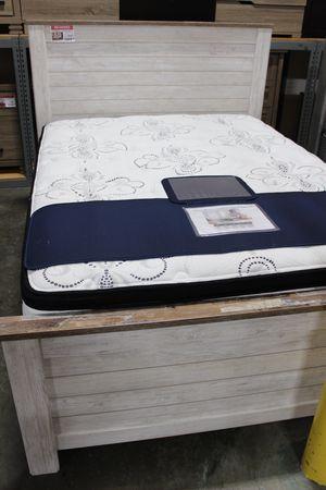 Queen Bed Frame, Whitewash, #B267 for Sale in Santa Fe Springs, CA