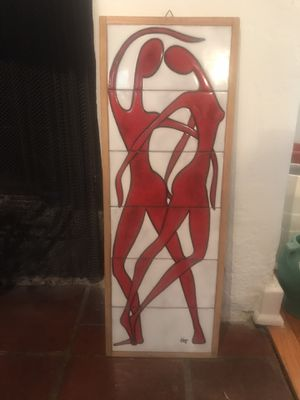 Vintage Mid Century Modern Tile Wall Art Picture for Sale in Glendale, CA