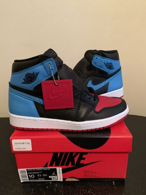 Womens Size 10 / Mens Size 8.5 Air Jordan 1 High OG NC To CHI Blue Red Black for Sale in Fort Lauderdale, FL