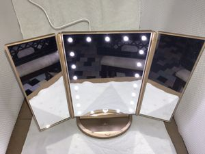 Impressions Led Lighted Makeup Mirror, Tri Folder White Mirror 21 LED Vanity for Sale in Gardena, CA