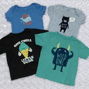 Baby Boy Short Sleeve Shirt & Onesie Bundle Size 9 Months for Sale in West Palm Beach, FL