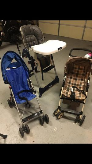 Stroller for kids and high chair for Sale in Ashburn, VA