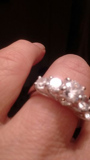 Brand new sterling silver engagement ring size 7 for Sale in North Las Vegas, NV