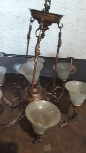 Antique bronze house lamp for Sale in Fort Lauderdale, FL