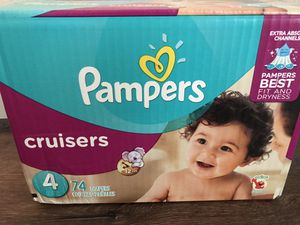 Pamper size 4 diapers for Sale in Castro Valley, CA
