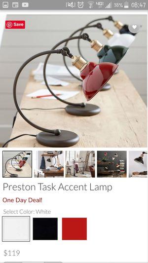 Preston accent lamp Pottery Barn white shade for Sale in Herndon, VA