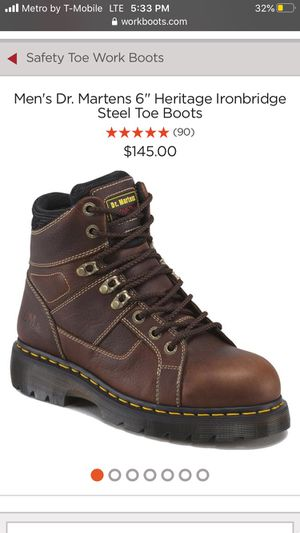 Dr martens steel toe boots heavy duty size 12 for Sale in Pomona, CA