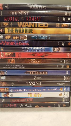 Misc DVDs For Sale - $1 For Each DVD $75 For Entire Lot for Sale in Chelan, WA