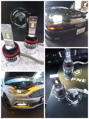CSP Car LED lights kit MODEL H11 with 1 year WARRANTY. Easy plug and play Car CSP LED headlights set for Sale in West Covina, CA