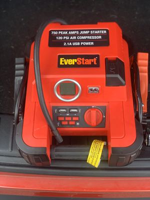 Everstart 750 peak watts jump starter for Sale in Baltimore, MD