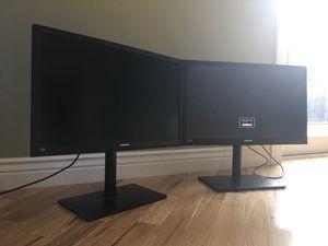 Dual Samsung SyncMaster S27A850T 27-inch 2560x1440 WQHD 2k LED PLS HDMI Monitor for Sale in San Jose, CA