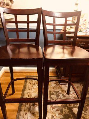 Wooden bar stools - 2 for Sale in Kensington, MD