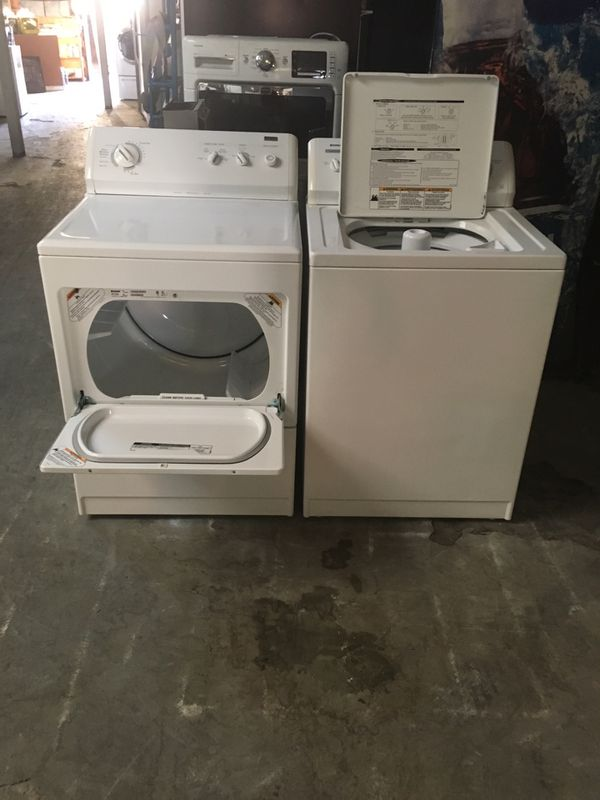 Set washer and dryer brand kenmore electric dryer everything is good working condition 90 days warranty delivery and installation