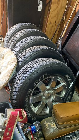 P255/70r18 Brand new wheels and tires premium jeep wheels 5 lug for Sale in Albemarle, NC