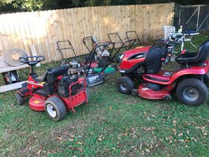 Lot lawn more's and Riding Mower s rollers blowers weed eater for Sale in Atlanta, GA