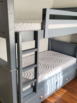 Bunkbed Twin/twin Grey for Sale in Huntington Beach,  CA